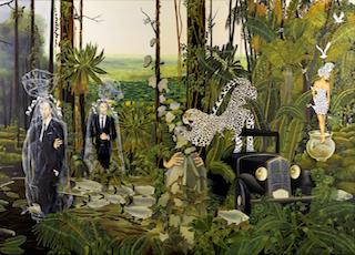 L'Hypnotique Ritournelle des Apparences, huile sur toile, 100 x 160 cm. - copie